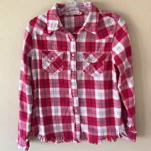 Hippie Laundry Red Flannel Shirt